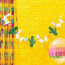 Lama en glitter cactus slinger