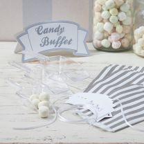 Candy Buffet schepjes kit Zilver