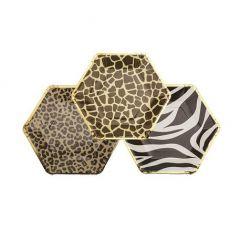 Safari Animal print bordjes zeshoekig