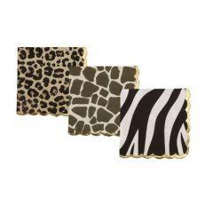 Safari bordjes animal print luipaard zebra giraffe zeshoekig