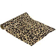 velvet tafelloper met giraffe print