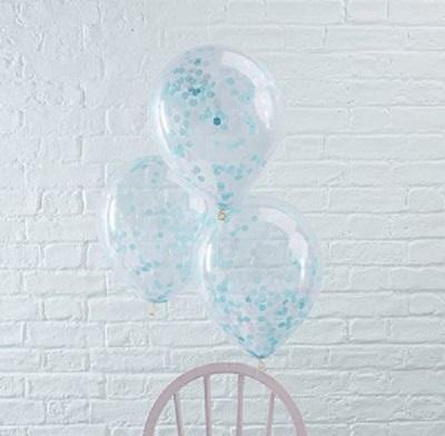 Blauwe confetti ballonnen