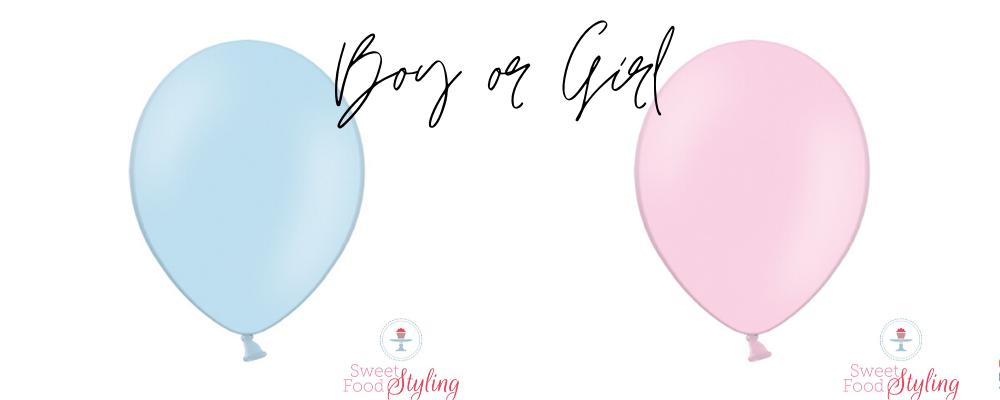 gender reveal boy or girl blauw en roze