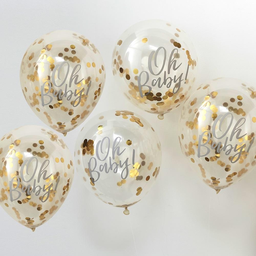 Oh Baby! Confetti ballonnen