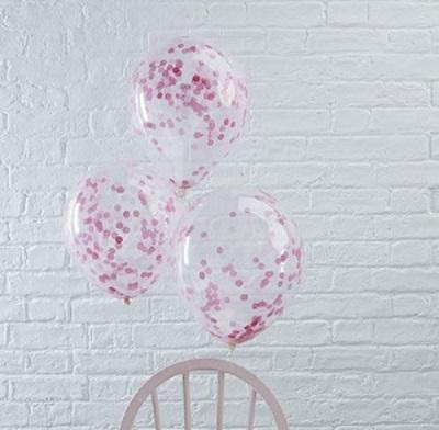 Roze confetti ballonnen