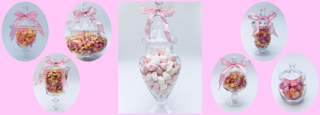Glazen snoeppoten Candy jars