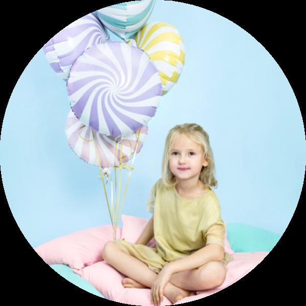 folieballonnen pastel candy
