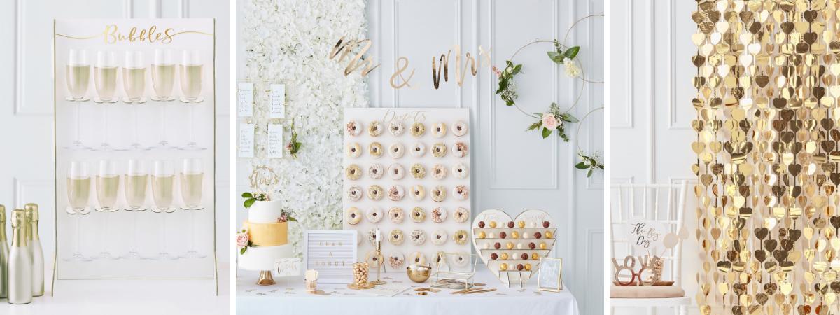 Gouden bruiloft feestversiering